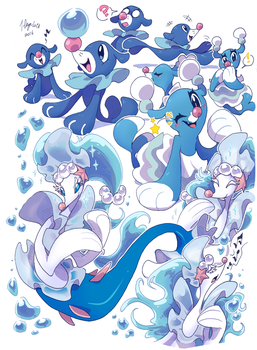 Popplio Evolution Pile by 7-Days-Luck