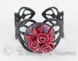 Roses in the Night Goth Ring by DeidreDreams