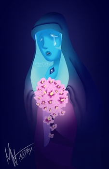 crying blue diamond : steven universe : by MikTVty