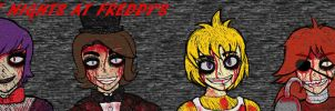 Five Nights At Freddys Human Version by RoseBereArtist