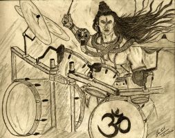 Shiva on Drums by Animated-Stardust