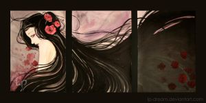 . Poppies triptych. by Lp-dream