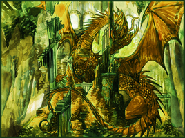 The Hobbit_play with the dragon by Daswhox