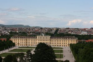 view to castle Schoenbrunn 8 by ingeline-art