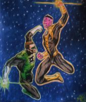 Green Lantern Fighting by jaZzLIn3egurll