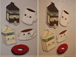 coffee break magnets by resubee