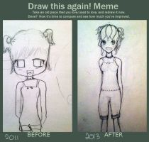 Before-After Meme~ raawr by Shinmochii