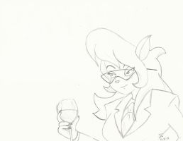 Callie with Wine by WhenInRome1942