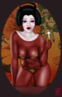 Black Geisha Girl by KellysDolls