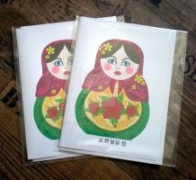 Russian Doll - Cards by rockgem