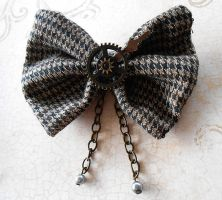 SOLD OUT:Steampunk Gear Hair Bow by random-wish