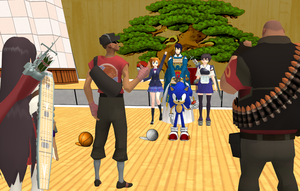 [MMD] Team Pokemon CHALLENGE! (Red-VS-Blu) by djlordsuzaku2