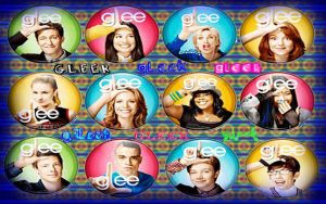 Glee Buttons by MadnessMayhem133