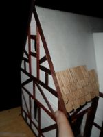 Foam Core Dollhouse WIP 11 Beginning the Shingles by kayanah