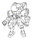 mecha 1 lineart by PaperBot