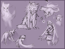 Okami Sketches by Zephyrkit