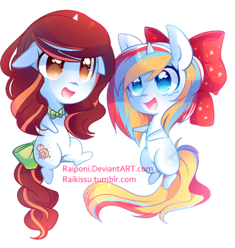 BubbleBurst and SnowMiracle by pekou