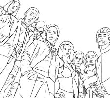 Lineart X-Men: First Class by HappInesFactory