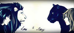 Leo and Mony by GABRIELAGOGONEA