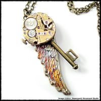 Steampunk Angel Wing Key 502 by SoulCatcher06