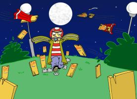Attack of the zombie planks by NatalieTheAntihero