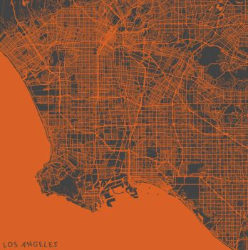 Los Angeles by MapMapMaps