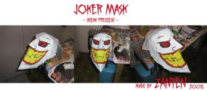 Joker mask - sneak preview by Zanten