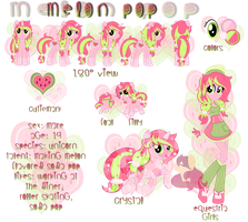 Melon Pop Character Ref for StarberryLemonade by Cybiline