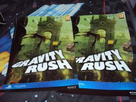 Gravity Rush - Two Posters Side One by DazzyDrawing