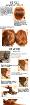 Cosplay Wigs: Taking away wig shine by cosplay--tutorials