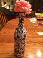 Hand painted bottle #1 by PsychedelicQueen