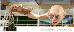 Gollum art Facebook cover by killddianette