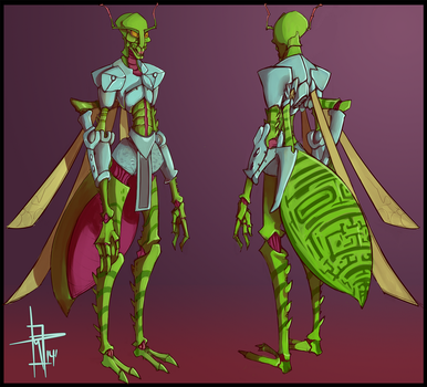 Crenami Turnaround (Character Design Commission) by LordOfGazelles