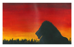 Acrylics - Lion Silhouette by 0paperwings0