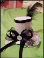Miniature Lolita Top Hat by Kitty-Sprinkles