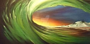 Gulf Coast Green Tube Copy by DavidWomackFineArts