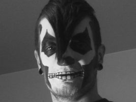 Skull Makeup black and white by mrevilrose