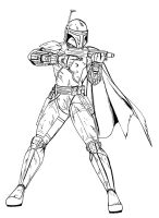 Invincible - Boba Fett lineart by JosephB222