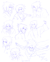 Sasuke Uchiha-- Sketches by Sing-sei