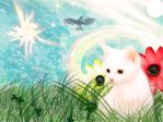 fantasy white cat by gamer1312