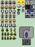 little clone spritesheet by Inextasie