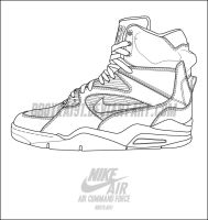 Nike Air Command Force Template by BBoyKai91