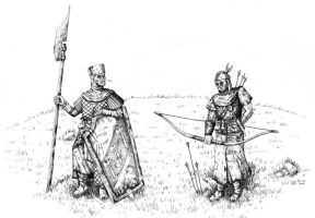 Two Bretonnian Rednecks by AdrianBorgnine
