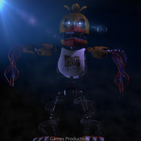 Stylized Withered Chica FullBody (4K) by GamesProduction
