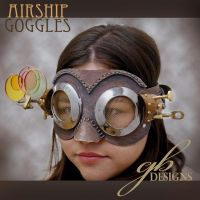 Airship helmsman's goggles by GeahkBUrchill