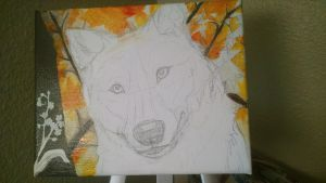 Wolf Painting WIP3 by NamelessOkami