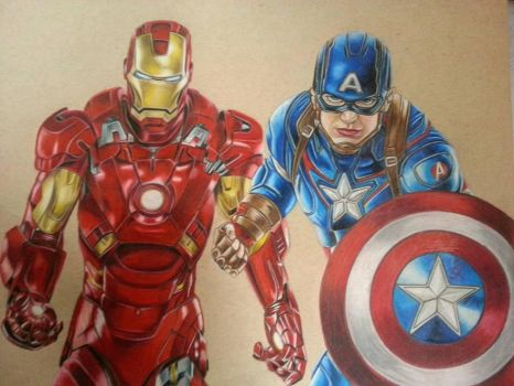 Captain America and Ironman by TristanTemplar