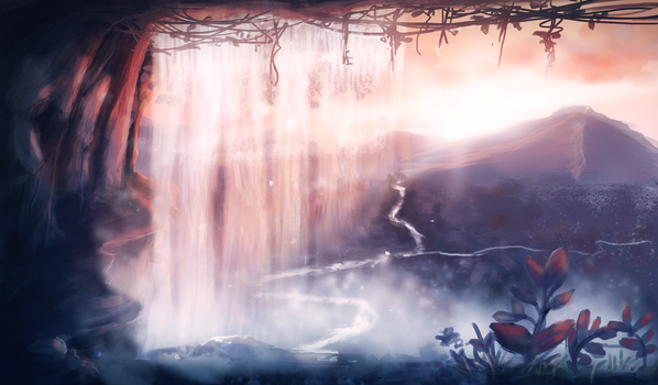 Waterfall by MadsMadnessRage