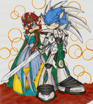 SonSal:Knight in Shining Armor by WingedHippocampus
