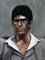 Tony Montana Painting by Overstone